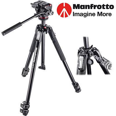 Manfrotto TRIPOD Aluminiun Tripod With Fluid Head  MK190X3-2W
