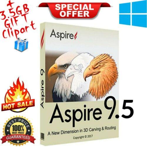 Vectric Aspire 9.5 | Full Version | windows | Lifetime License|+GIFT Clipart🔥🎁
