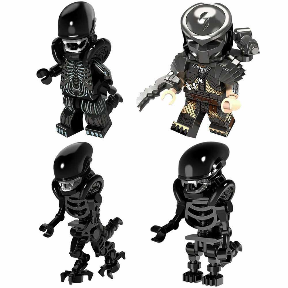 ALIEN Predator minifigure lego Custom PAD UV Printed  BRICK minifigure Predator