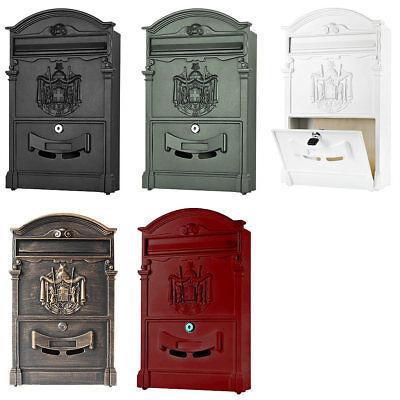 Nostalgie Wandbriefkasten Briefkastenanlage Postkasten Mailbox Letterbox