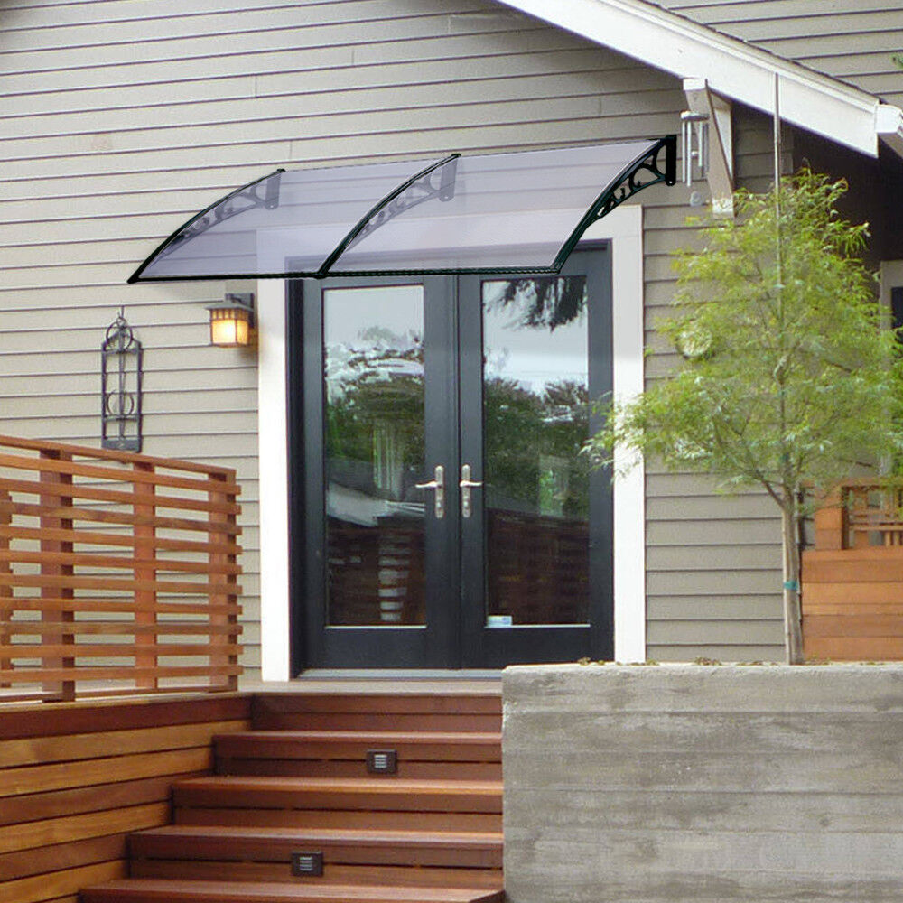 "40×120"" door Window Awning Patio Cover Canopy UV Rain Snow"