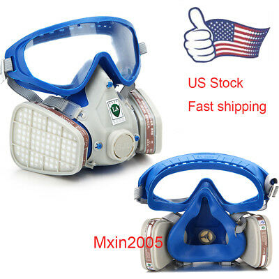 Us Anti-dust Full Face Gas Mask Breath Painting Protector Double Filtergoggles