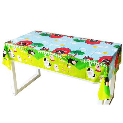 1pcs Farm Animals Theme Birthday Party Decoration Disposable Table Cloth Cover Animated Birthday Party