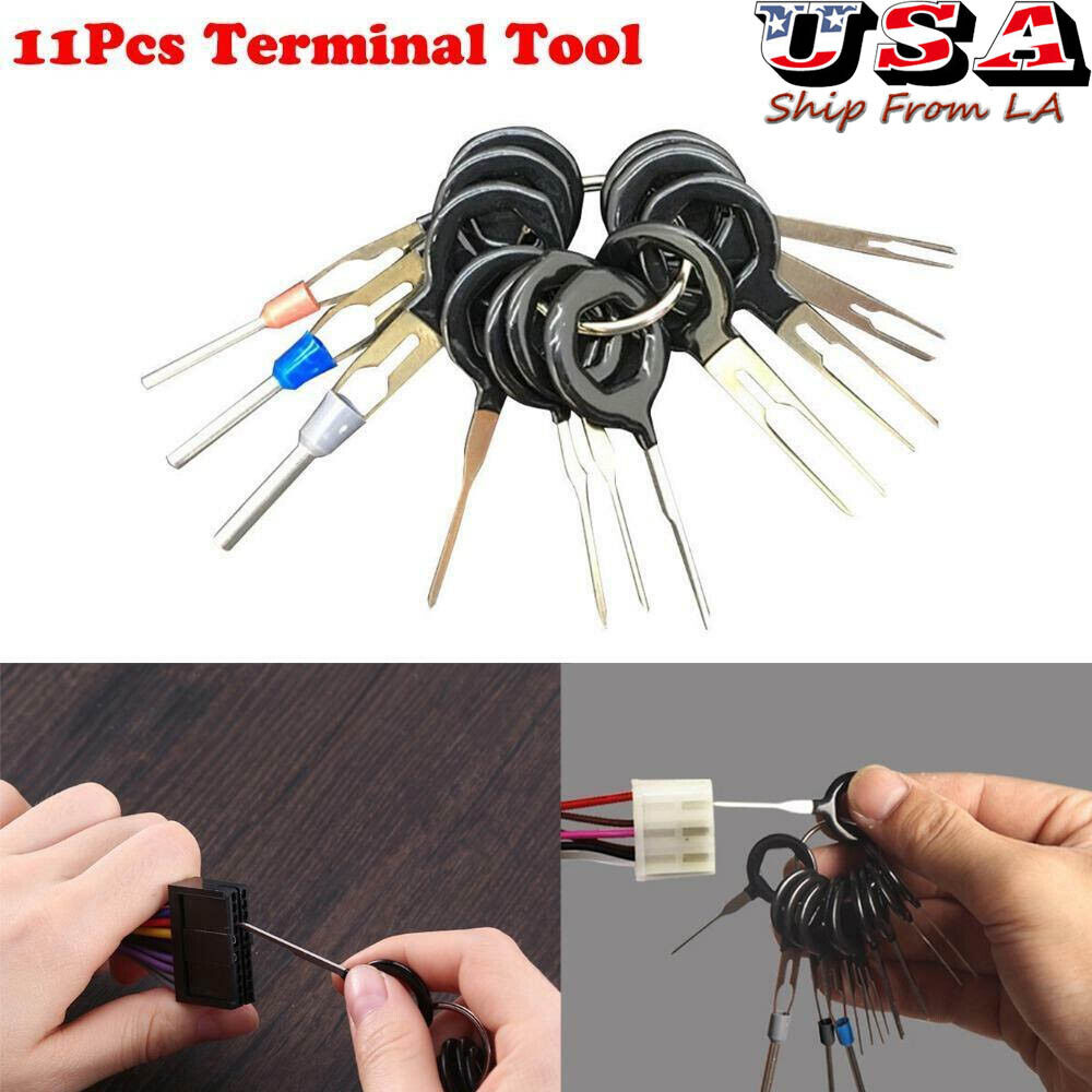 11pcs Connector Pin Extractor Terminal Removal Tool Car