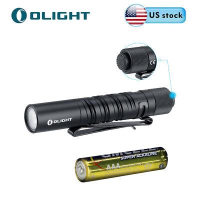 Olight I3T EOS 180 lumens EDC Tail Switch Pocket LED Flashlight w/ AAA Battery