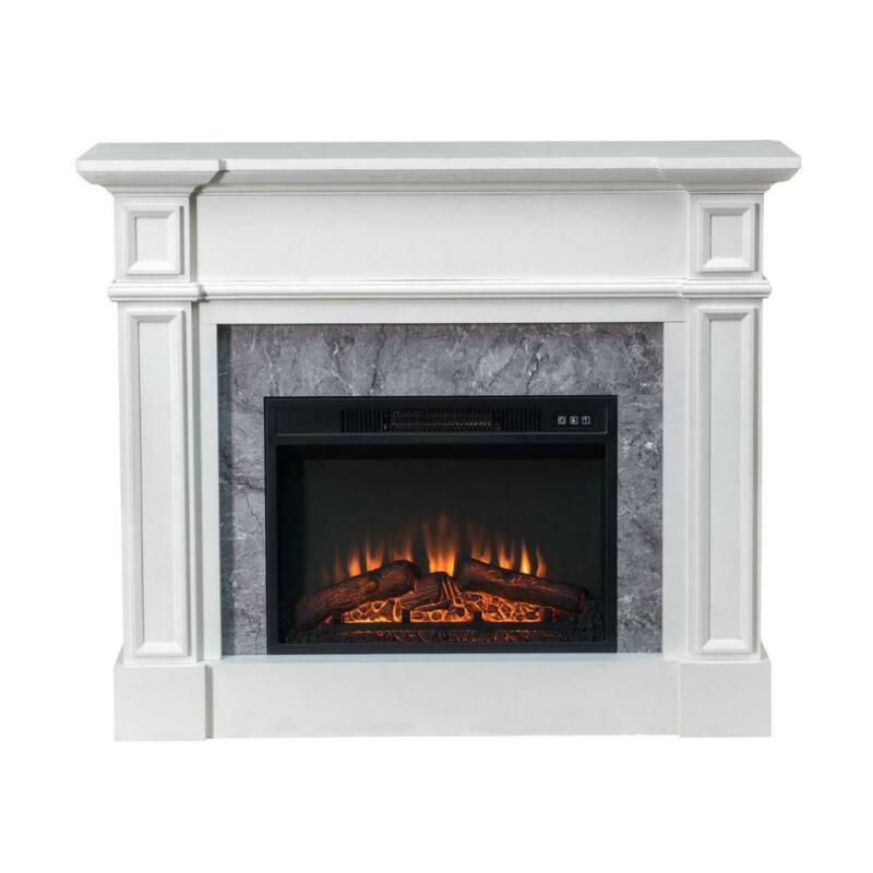 "Sunjoy 46"" Indoor Electric Fireplace Mantel w/ 23"" Insert"
