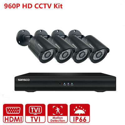 4CH 1080N HDMI DVR Outdoor Home 960P IR CCTV Video Security Camera System NO HDD