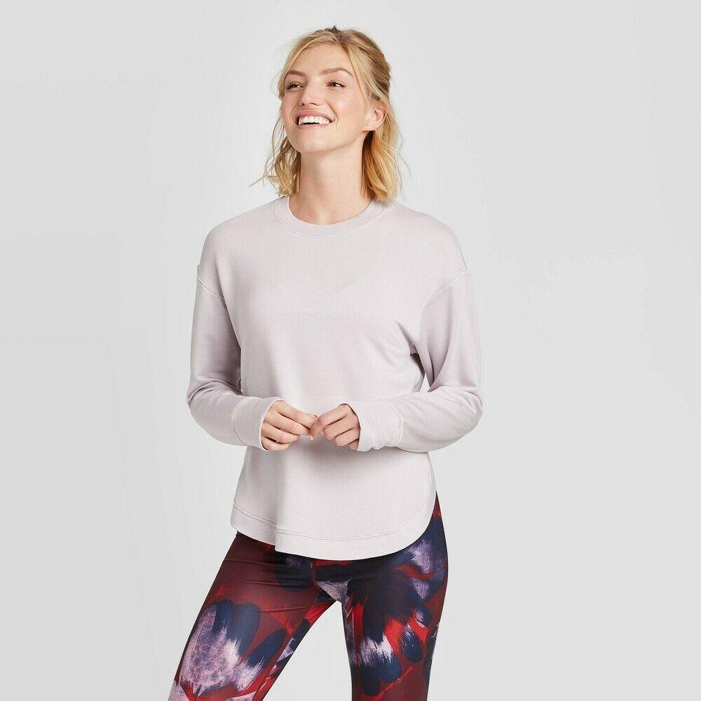 Women's Frandia Long Sleeve Pullover – JoyLab Purple L Activewear