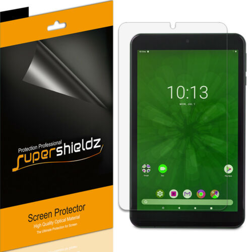 3X SuperShieldz Clear Screen Protector Saver for Onn 8 inch Tablet