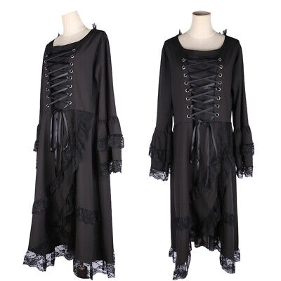 Plus Size Halloween Victorian Vintage Fancy Dress Womens Gothic Witch Costume