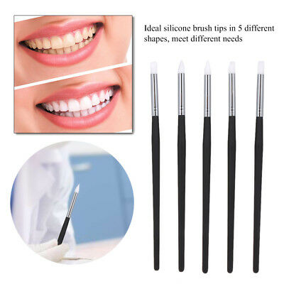 5pcs Adhesive Dental Brush Pen Composite Resin Cement Porcelain Dentistry Tool