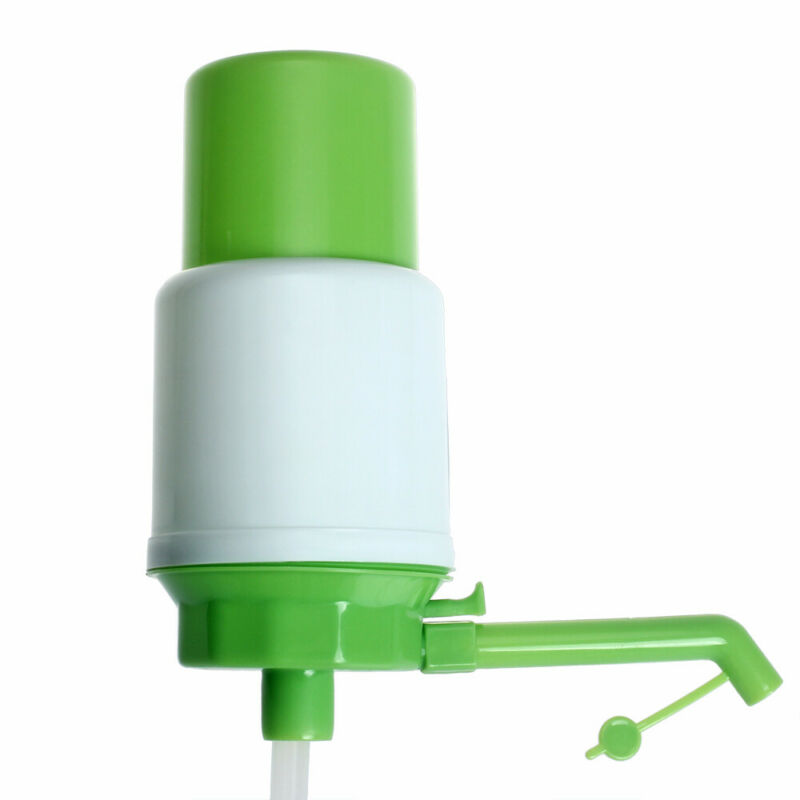 Manual Water Bottle Jug Hand Pump Dispenser Camping Drinking