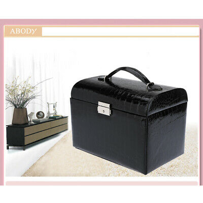 PRO Synthetic Leather Jewelry Box Storage Case Necklace Container Organizer A7D1
