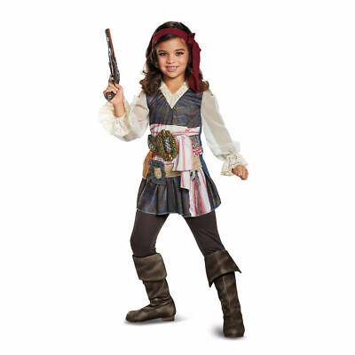 Disney Captain Jack Sparrow Pirates Caribbean Girl Child Costume Girl Small 4-6