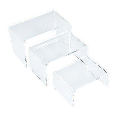 3 Piece Small Acrylic Riser Jewelry Display Set Azm Free Shipping