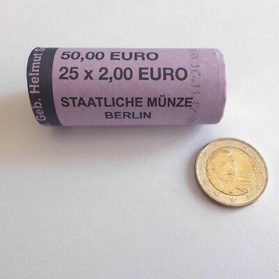 25er Rolle - 2 Euro 100. Geburtstag Helmut Schmidt 2018 - Prägebuchstabe A