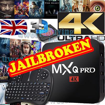 2017 MXQ PRO Quad Core 4K Android 6.0 Smart TV Box New K17.1 WIFI Media Player