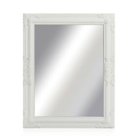 Beautiful white framed wall mirror