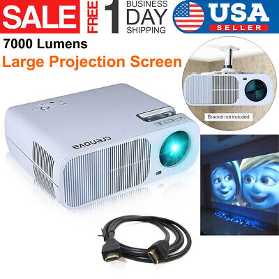 1080P Portable Projector Home theater Cinema  HDMI USB VGA AV Home Filme Beamer