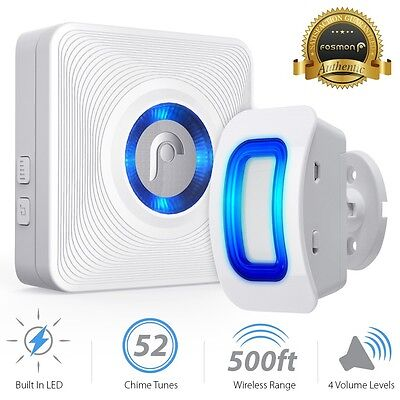 Fosmon 500ft Home Security Wireless Driveway Alarm Door Bell Motion Sensor Chime