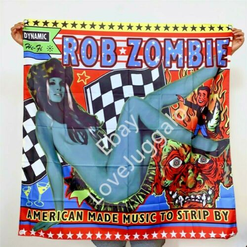 Rob Zombie Banner American Made Music To Strip By Tapestry Flag Art Poster 4x4ft