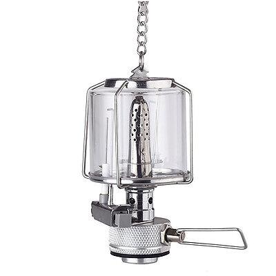 Mini Portable Hanging Camping Lantern Gas Light Tent Lamp Torch Glass Lamp - Hanging Gas Lantern