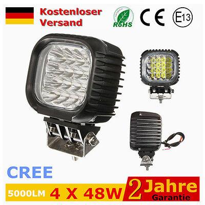 4 X48W LED Arbeitsscheinwerfer Offroad Scheinwerfer Flutlicht CREE SUV TRUCK CAR