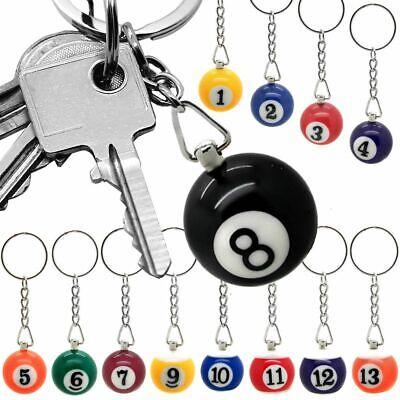 1 Billardkugel Schlüsselanhänger Schlüsselring Sport Snooker Kugel Anhänger
