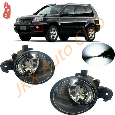 LED Front Bumper Lamps Fog Lights Pair For Nissan X-TRAIL XTRAIL T30 2000-2006