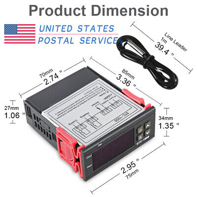 12v 24v 110v 220v Stc-1000 Digital Temperature Controller Switch Aquarium