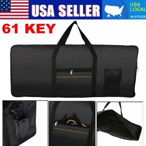 Portable Electronic 61 Key Keyboard Piano Cover Case Gig Bag