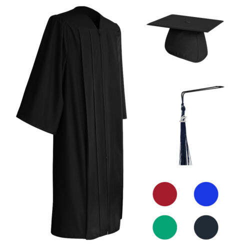 2021 Graduation Cap and Gown with Bling Removable Tassel by SIGNATURE Matte