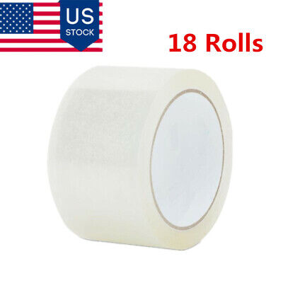 18 Rolls 1.9inch x 110 Yards Clear Tape Packing Sealing Tape 2-Mil Thickness US