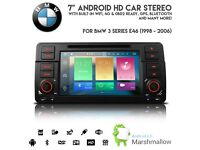 "BMW 3 Series E46 Rover 75 /MG ZT 7"" Android 6.0 HD WiFi GPS 4G Ready Radio DVD USB SD Aux Car Stereo"
