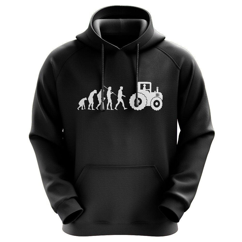 Evolution Landwirt Bauer Traktor Frau Nur Held Feld Fun Hoodie Kapuzenpullover