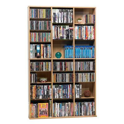 oskar maple media storage | cabinet multimedia atlantic wall adjustable unit dvd