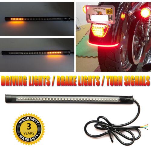 48LED Motorcycle Flexible Strip Light Brake Tail Lamp Turning Turn Signal Lights