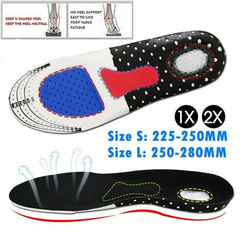 1 Pair Shoes Insoles Orthopedic Memory Foam Sport Arch Suppo