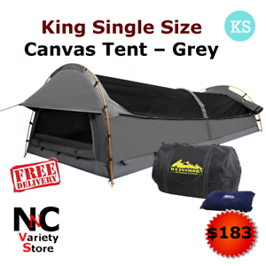 Tent Grey King Single Size Canvas