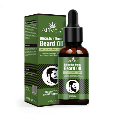 Men Fast Hair Beard Growth 100% Natural Serum Treatment Oil 30ml Smoothing Beard