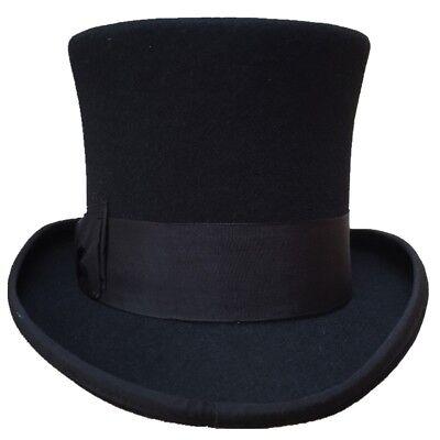 Top Hat Wool Fedoras Gentleman Steampunk Groom Wedding High Cylinder Chimney Pot