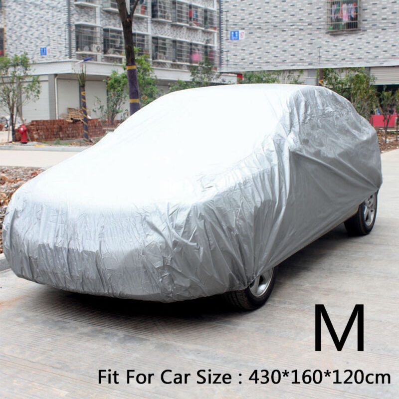 Full Car Cover XL Heat UV Protection Waterproof Outdoor Dustproof Silver Grey UK