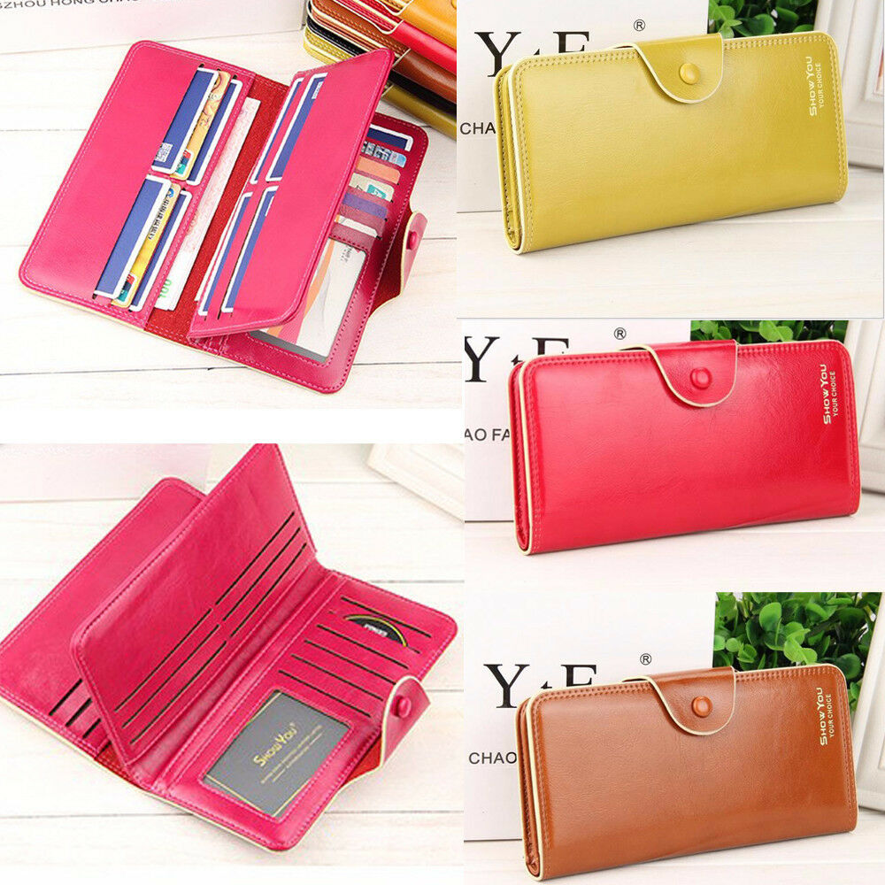 US Fashion Women Lady Clutch Wallet Long PU Leather Card Holder Purse Handbag Clothing, Shoes & Accessories