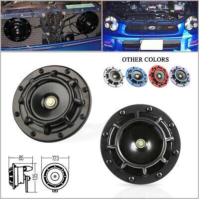 Black Super Loud Blast Tone 12V Electric Grille Mount Compact Car Horns -