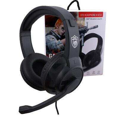 3.5mm Gaming Headset Headphone Stereo Bass Surround With Mic For PS4/Xbox One/PC
