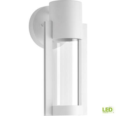 Progress Lighting Z-1030 1-Light White 12 in. Outdoor LED Wa