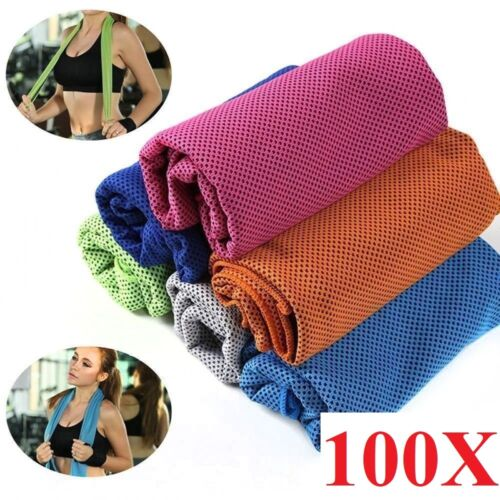 100pcs wholesale  ice Cooling Towel for Sports/Workout/Fitness/Gym/Yoga/Pilates
