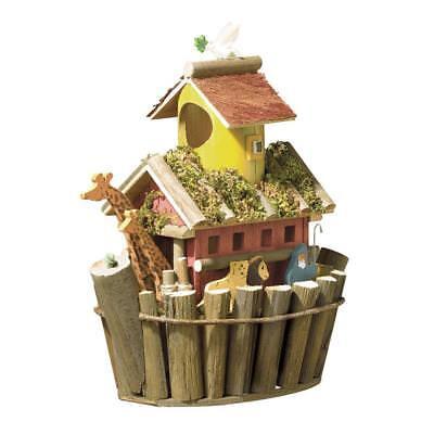 New Noah's Ark Birdhouse Wooden Wildlife Animal Bird Outdoor Yard Garden Decor