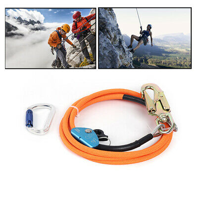 Climbing 12 X 10 Steel Core Lanyard Kit Flipline Swivel Snap 3m Length Fast