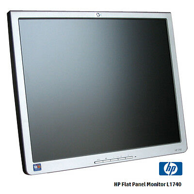 "HP 1740  17"" LCD Monitor Silver and Black PL766A w/ VGA and Power Cord NO STAND"